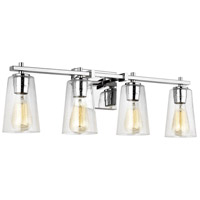 Mercer 4 Light 29 inch Chrome Vanity Light Wall Light