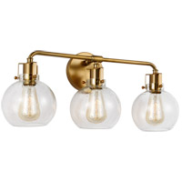 Feiss VS24403BBS Clara 3 Light 24 inch Burnished Brass Wall Bath Vanity Wall Light