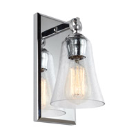 Monterro 1 Light 5 inch Chrome Vanity Light Wall Light
