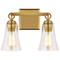 Feiss VS24702BBS Monterro 2 Light 13 inch Burnished Brass Wall Bath Vanity Wall Light