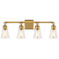 Feiss VS24704BBS Monterro 4 Light 30 inch Burnished Brass Wall Bath Vanity Wall Light