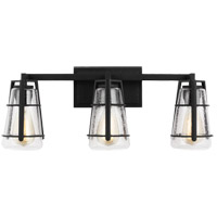 Feiss VS2473MBK Adelaide 3 Light 24 inch Midnight Black Wall Bath Fixture Wall Light