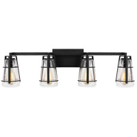 Feiss VS2474MBK Adelaide 4 Light 34 inch Midnight Black Wall Bath Fixture Wall Light
