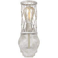 Feiss VS2481FWO/DWW Cosette 1 Light 6 inch French Washed Oak and Distressed White Wood Wall Bath Fixture Wall Light