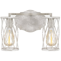 Feiss VS2482FWO/DWW Cosette 2 Light 14 inch French Washed Oak and Distressed White Wood Wall Bath Fixture Wall Light