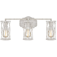 Feiss VS2483FWO/DWW Cosette 3 Light 23 inch French Washed Oak and Distressed White Wood Wall Bath Fixture Wall Light
