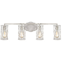 Feiss VS2484FWO/DWW Cosette 4 Light 33 inch French Washed Oak and Distressed White Wood Wall Bath Fixture Wall Light