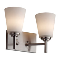 Feiss Regan 2 Light Vanity Strip in Brushed Steel VS25002-BS