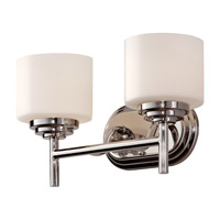 Malibu 2 Light 14 inch Polished Nickel Vanity Strip Wall Light