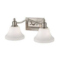 Feiss Cumberland 2 Light Vanity Strip in Brushed Steel VS31002-BS