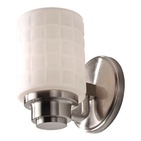 Wadsworth 1 Light 5 inch Brushed Steel Vanity Strip Wall Light in Standard