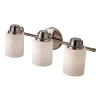 Wadsworth 3 Light 21 inch Brushed Steel Vanity Strip Wall Light in Standard