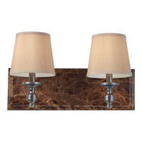 Feiss Carrollton 2 Light Vanity Strip in Plated Oil Rubbed Bronze VS34002-PORB