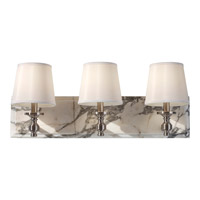 Feiss Carrollton 3 Light Vanity Strip in Brushed Steel VS34003-BS photo thumbnail