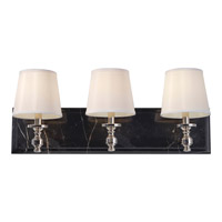 Carrollton 3 Light 26 inch Polished Nickel Vanity Strip Wall Light