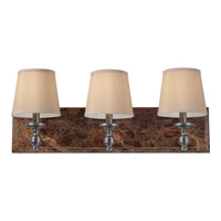 Carrollton 3 Light 26 inch Plated Oil Rubbed Bronze Vanity Strip Wall Light