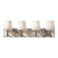 Feiss Carrollton 4 Light Vanity Strip in Brushed Steel VS34004-BS photo thumbnail
