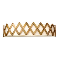 Feiss Hugo 3 Light Vanity Strip in Bali Brass VS35005-BLB photo thumbnail