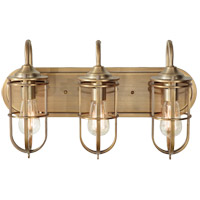Feiss Urban Renewal 3 Light Wall Bath Fixture in Dark Antique Brass VS36003-DAB-AL