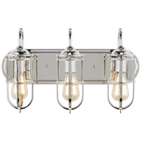 Feiss VS36003PN Urban Renewal 3 Light 21 inch Polished Nickel Vanity Strip Wall Light