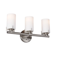 Feiss Kenton 3 Light Vanity Strip in Brushed Steel VS39003-BS