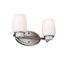 Feiss Colby 2 Light Vanity Strip in Brushed Steel VS40002-BS