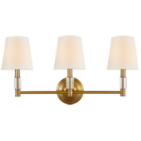 Feiss VS43003-BBS Lismore 3 Light 24 inch Burnished Brass Vanity Strip Wall Light
