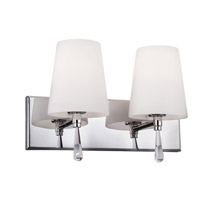 Feiss Monica 2 Light Vanity Strip in Chrome VS53002-CH