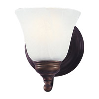 Bristol 1 Light 5 inch Oil Rubbed Bronze Vanity Strip Wall Light in White Alabaster Glass