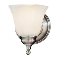 Bristol 1 Light 5 inch Pewter Vanity Strip Wall Light in White Alabaster Glass