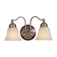 Feiss Bristol 2 Light Vanity Strip in Pewter VS6702-PW