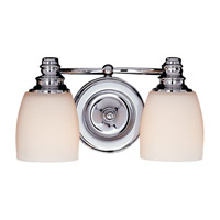 Feiss VS7402-CH Bentley 2 Light 12 inch Chrome Vanity Strip Wall Light