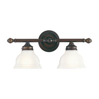 New London 2 Light 19 inch Oil Rubbed Bronze Vanity Strip Wall Light