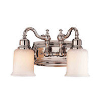 Canterbury 2 Light 14 inch Polished Nickel Vanity Strip Wall Light