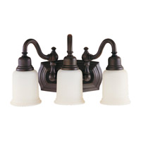 Canterbury 3 Light 19 inch Oil Rubbed Bronze Vanity Strip Wall Light
