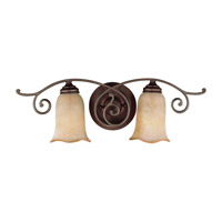 Feiss Tuscan Villa 2 Light Vanity Strip in Corinthian Bronze VS8102-CB photo thumbnail
