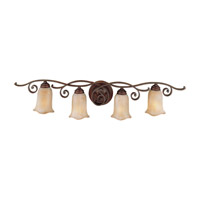 Feiss VS8104-CB Tuscan Villa 4 Light 38 inch Corinthian Bronze Vanity Strip Wall Light photo thumbnail