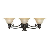 Cervantes 3 Light 26 inch Liberty Bronze Vanity Strip Wall Light in 26.25