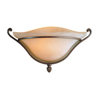 Tuscan Villa 1 Light 15 inch Corinthian Bronze Wall Sconce Wall Light in Fluorescent