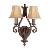 Tuscan Villa 2 Light 13 inch Corinthian Bronze Wall Sconce Wall Light