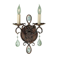 Chateau 2 Light 9 inch Mocha Bronze Wall Sconce Wall Light