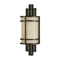 Feiss Fusion 1 Light Wall Bath Fixture in Grecian Bronze WB1283GBZ-F