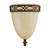 Feiss Drawing Room 1 Light Wall Bath Fixture in Walnut WB1288WAL-F
