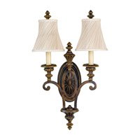 Drawing Room 2 Light 15 inch Walnut Wall Sconce Wall Light