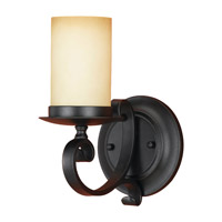 Feiss Colonial Manor  1 Light Wall Bracket in Black  WB1310BK