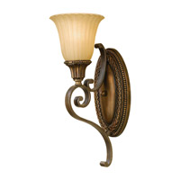 Feiss Kelham Hall 1 Light Wall Sconce in Firenze Gold and British Bronze WB1418FG/BRB