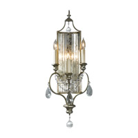 Gianna 3 Light 11 inch Gilded Silver Wall Sconce Wall Light