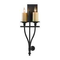 Kings Table 2 Light 9 inch Antique Forged Iron Wall Sconce Wall Light