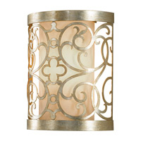 Arabesque 1 Light 8 inch Silver Leaf Patina ADA Wall Sconce Wall Light