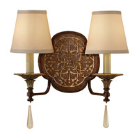 Feiss Marcella 2 Light Wall Sconce in British Bronze and Oxidized Bronze WB1530BRB/OBZ photo thumbnail